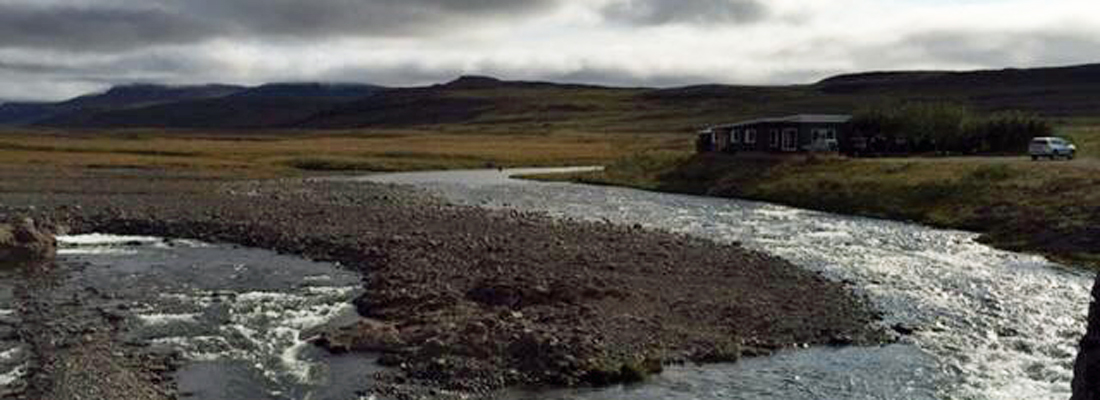 Iceland river and fishing