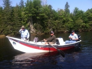 Lefty Kreh fishing the St Croix River in Maine at Weatherby's