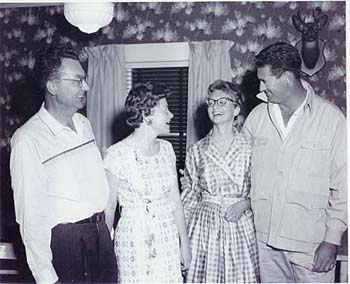 Bev Weatherby, Alice Weatherby, Diana Weatherby, and Ted Williams