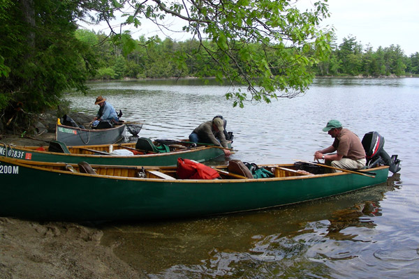 Guides in Canoes in Grand Lake Stream Maine