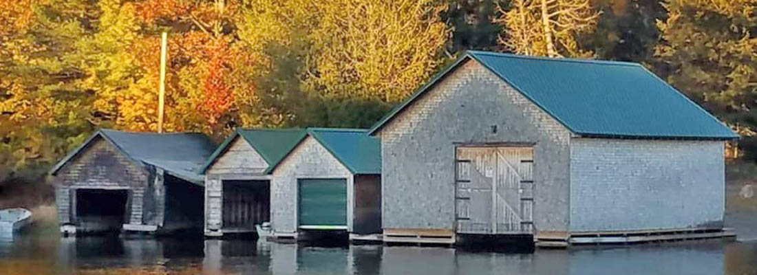 Boat House at Weatherby's on Grand Lake Stream