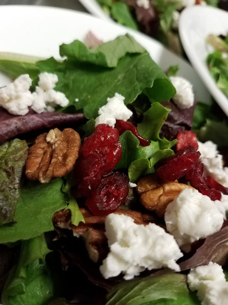 Cranberry Walnut Salad at Weatherby's in Grand Lake Stream Maine
