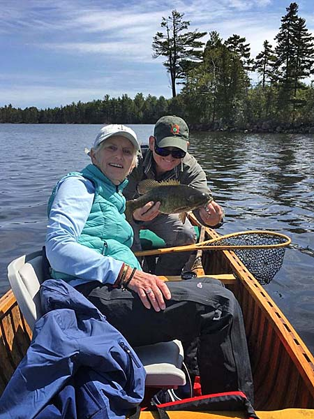 Fishing for Smallmouth Bass in August in Maine