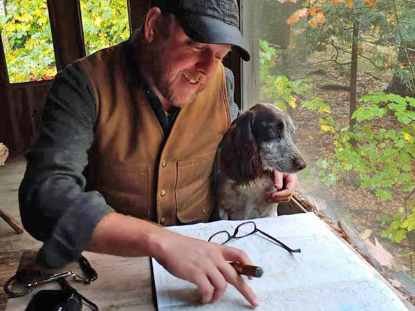 Mapping a hunting plan for bird hunting in Maine