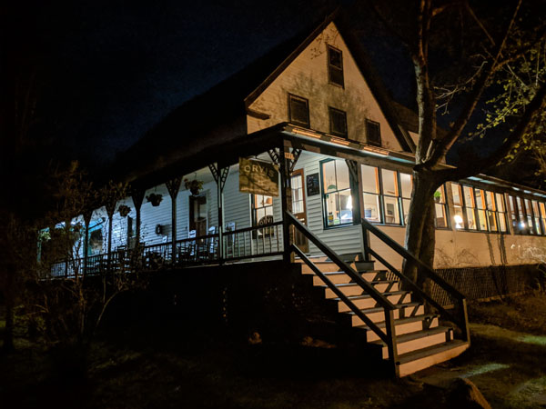 Weatherby's Lodge in Maine at Night